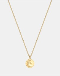 Necklace Children Crescent Star Moon Astro 925 Sterling Silver Gold Plated