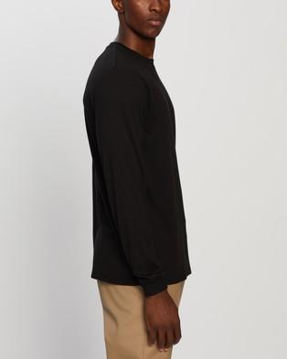 Gramicci Wool Mix LS Tee - T-Shirts & Singlets (Black)