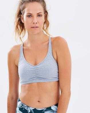 Dharma Bums – Bliss Sports Bra – Crop Tops (Light Grey)
