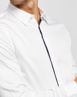 Armani Exchange Camicia Shirt - Shirts & Polos (White & Navy)
