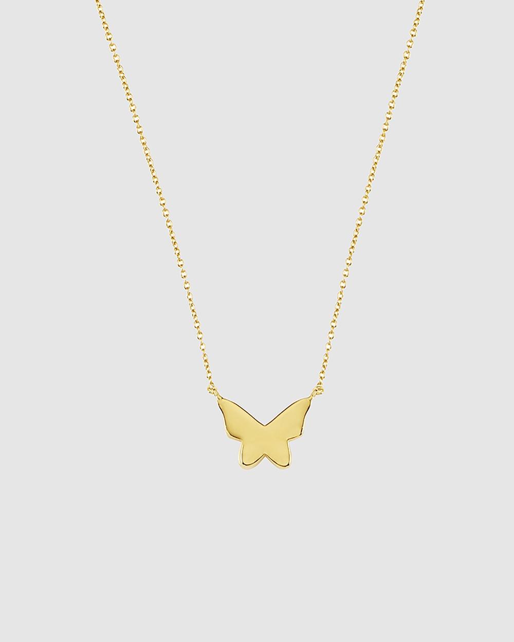 Secret Sisterhood Butterfly Necklace Jewellery Gold