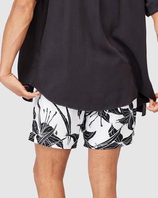 Cotton On - Swim Shorts Swimwear (White Growing Floral)