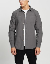 Staple Superior - Garment Dye Poplin Long Sleeve Shirt
