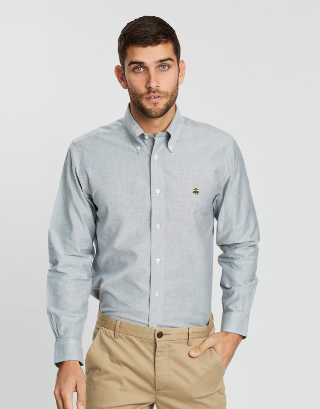 BROOKS BROTHERS - Non-Iron Oxford Solid Regent Shirt