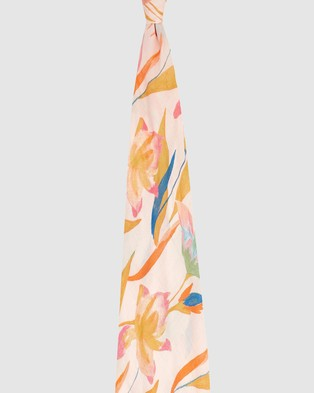 Aden & Anais - Single Silky Soft Swaddle - Wraps & Blankets (Marine Gardens Floral) Single Silky Soft Swaddle
