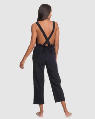 Roxy Womens Love Love Love Linen Jumpsuit - Sleeveless (True Black)