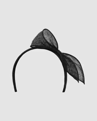 Forever New Pippa Asymmetric Bow Headband - Fascinators (Black)