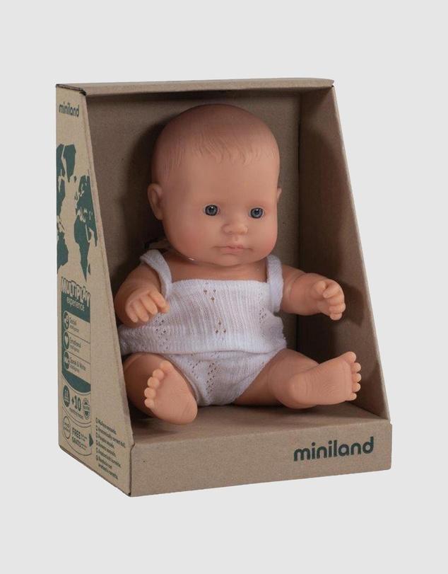Kids Anatomically Correct Baby Doll Caucasian Girl 21cm