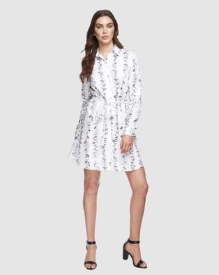 Bamboo Body Woven Shirt Dress - Dresses (Vine Print)