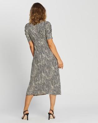 Dorothy Perkins Empire Seam Midi Split Dress - Printed Dresses (Neutral)