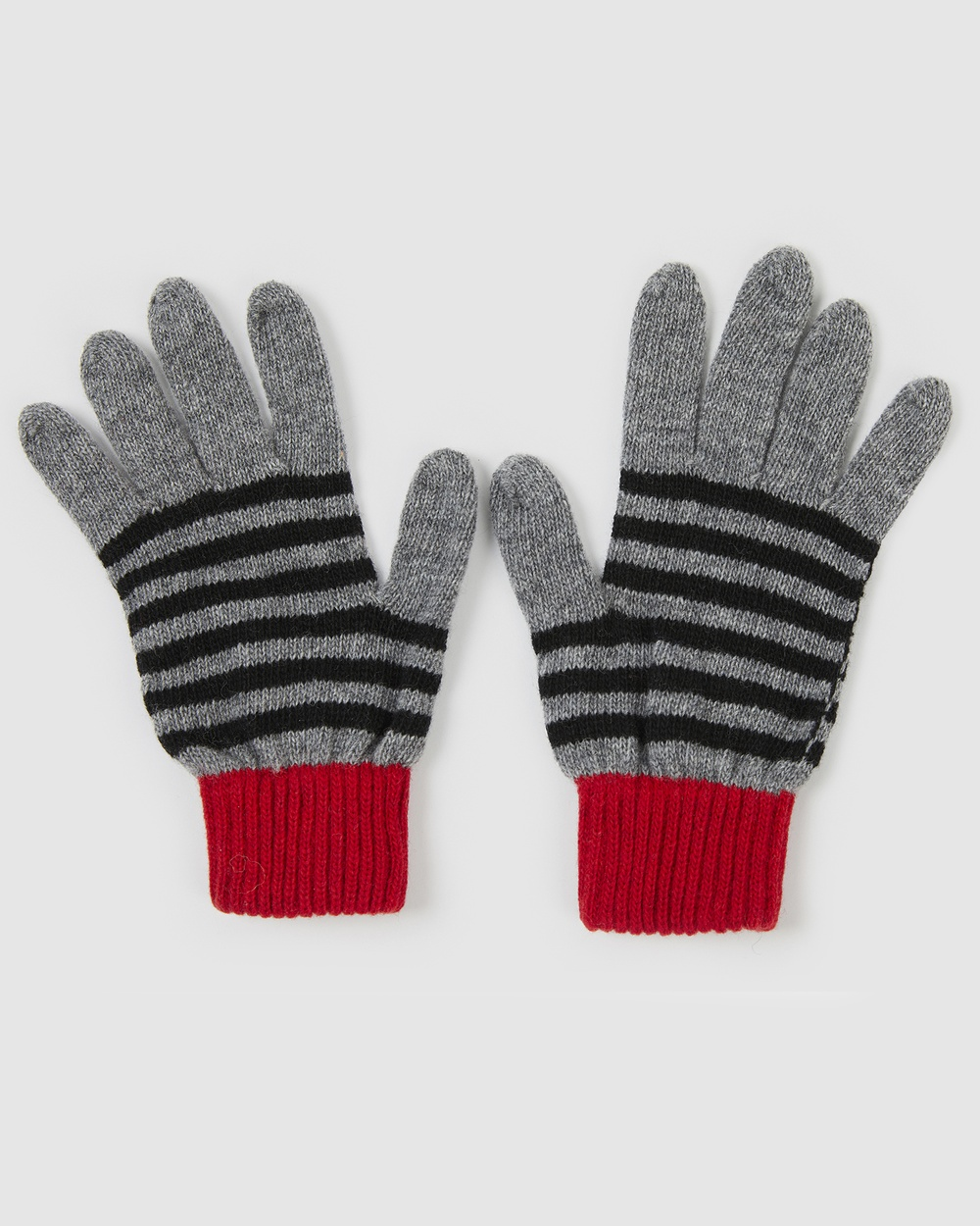 Kate & Confusion Rugby Stripe Gloves Outdoor Grey