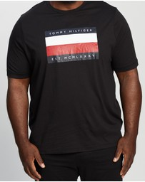 Tommy Hilfiger - Plus Corporate Stripe Box Tee