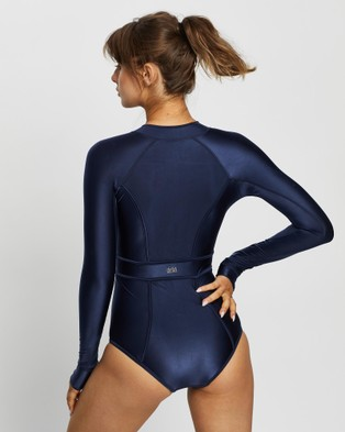 Duskii Long Sleeve Paddle Suit - One-Piece / Swimsuit (Navy)