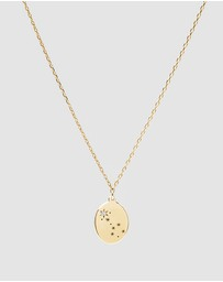 Luna Rae - Solid Gold - Stars of Scorpio Necklace