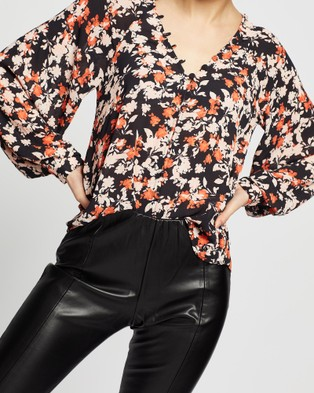 Wish The Label Verona Blouse - Tops (Black)