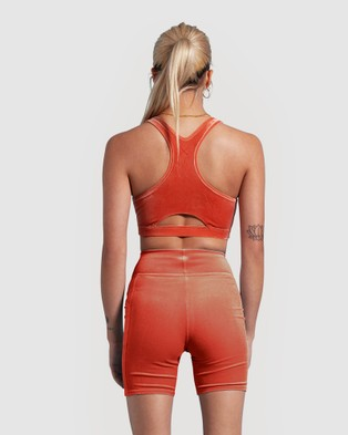 First Base Lifestyle Bike Short - High-Waisted (Orange)