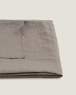 Carlotta + Gee - 100% Linen Tablecloth - Home (Grey) 100% Linen Tablecloth