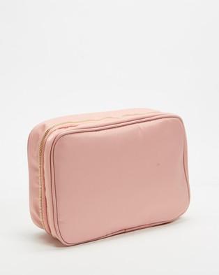 PETA AND JAIN Quinn Cosmetic Holdall - Bags & Tools (Baby Pink Nylon)