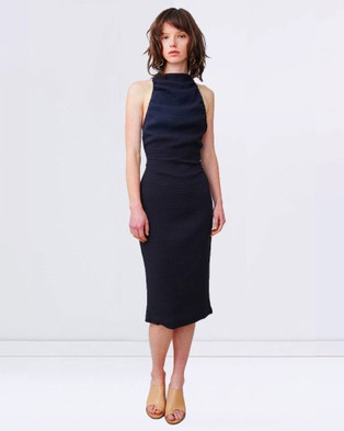 Third Form – Deep Down Tie Up Dress – Dresses (Black)
