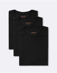WAYVER - The Black Soft Wash Crew Tee 3-Pack
