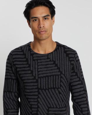 CERRUTI 1881 Patterned Merino Wool Sweater - Jumpers & Cardigans (Grey)