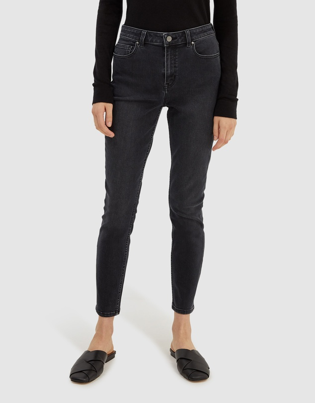 Women Anna Cropped High Rise Skinny Jeans