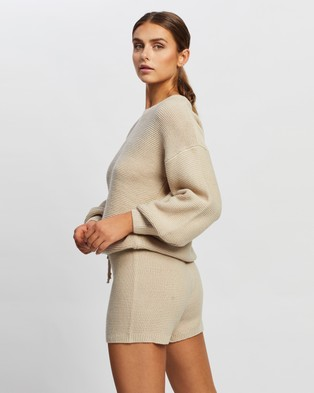 Onzie Cozy Knit Sweater - Jumpers & Cardigans (Cuban Sand)