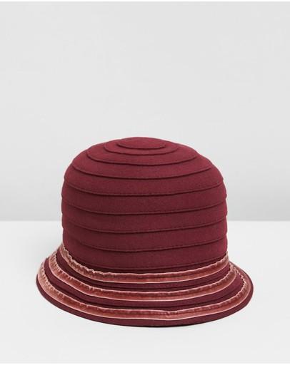 Max Alexander Wool Felt Bucket Hat Burgundy