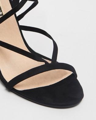 Billini Diya Strappy Stiletto Heels - Heels (Black Suede)