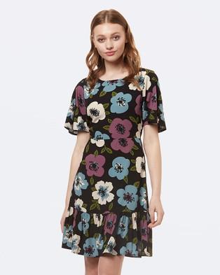 Princess Highway – Mary Anne Dress Black/Lilac