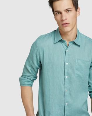 Oxford Holloway Pure Linen Shirt - Casual shirts (Green)
