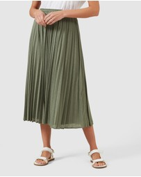 French Connection - Pleated Textured Skirt