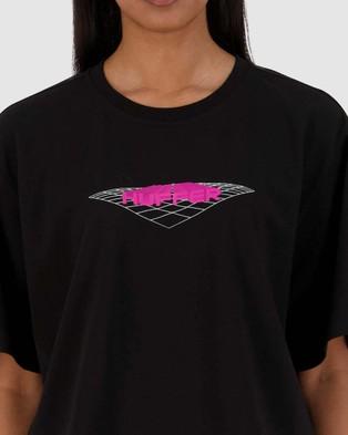 Huffer Women's Chloe Tee Override - T-Shirts & Singlets (Black)