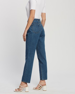 Atmos&Here Montana Straight Leg Jeans - Jeans (Mid Blue)