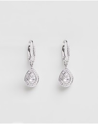 Swarovski - Attract Pear White Gold Pendant Earrings with Swarovski Crystals