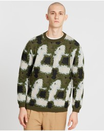 Saturdays NYC - Wade Glass Print Sweater