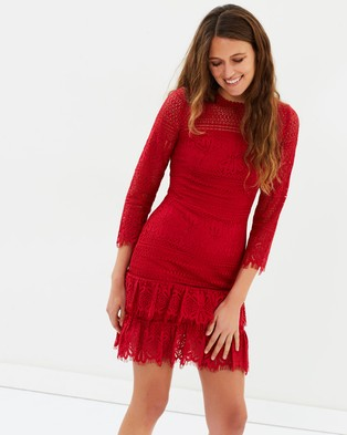 Whistles – Marylou Lace Dress Dark Red