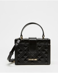 LOVE MOSCHINO - Quilted Mini Box Cross-Body Bag