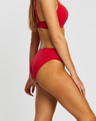Sea Level Australia Mid Bikini Pants - Bikini Bottoms (Red)
