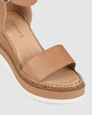 Jo Mercer Klume Mid Heel Wedge Espadrilles - Wedges (Tan Leather)