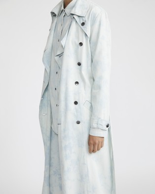 Jac & Mooki Bleached Chambray Trench - Denim jacket (bleached wash)