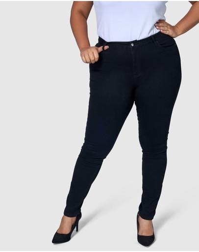 Indigo Tonic Kylie Curve Skinny Jeans Black
