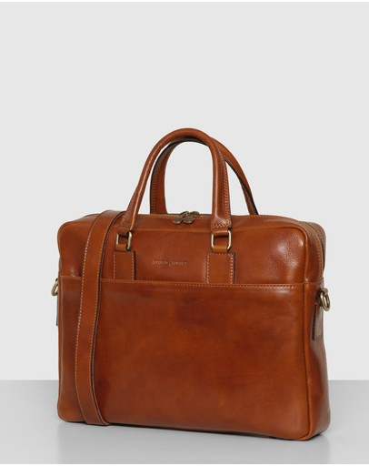 Republic of Florence - The Tokyo Tan Leather Laptop Briefcase
