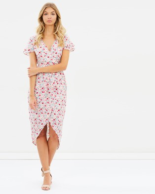 Atmos & Here – Ciara Wrap Dress – Printed Dresses Soft Floral