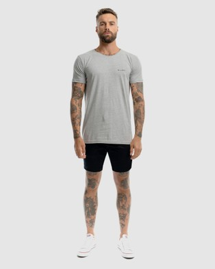Xander Impression Embroidery Tee - T-Shirts & Singlets (GREY)
