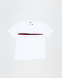 Tommy Hilfiger - Flag Tape SS Tee - Teens