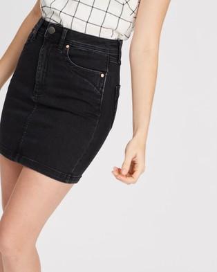 DRICOPER DENIM Leah High Waisted Skirt - Denim skirts (Black Sheep)