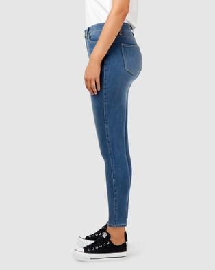 Jeanswest Freeform 360 Contour Curve Embracer High Waisted Skinny 7 8 Jeans - High-Waisted (Blue)