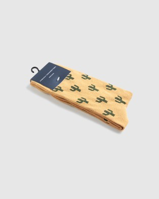 French Connection Cactus 1 Pk Socks - Socks (MUSTARD)