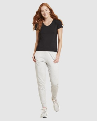 Boody Organic Bamboo Eco Wear - 2 Pack V Neck T Shirt - Short Sleeve T-Shirts (Black & White) 2 Pack V-Neck T-Shirt